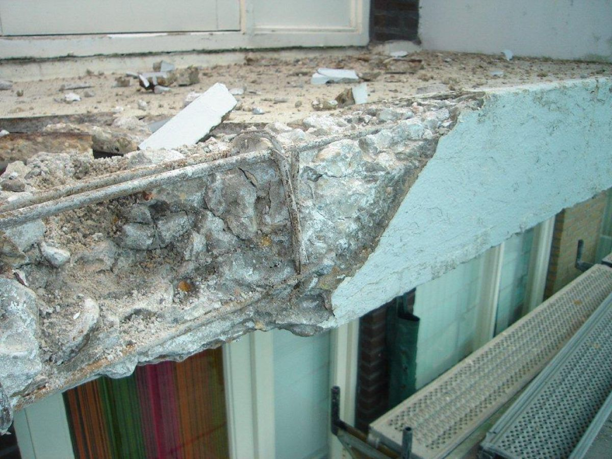 Schade aan gewapend beton