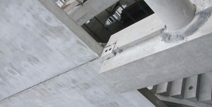 Dilatatievoeg als verbinding tussen twee bouwdelen