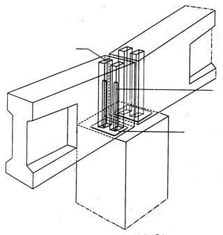 Uit de fundering of onderliggende delen steken stekken