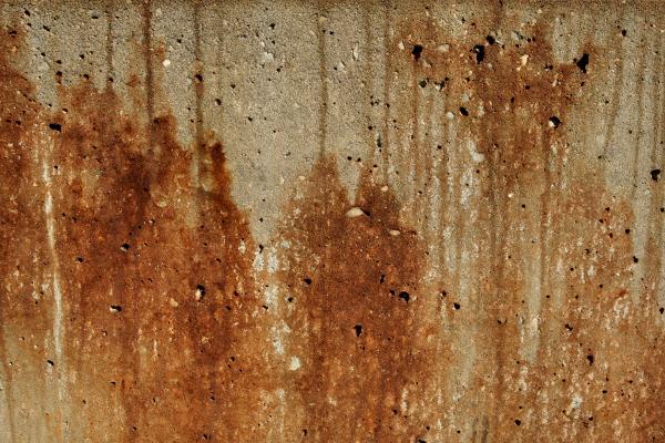 Roest op betonoppervlak