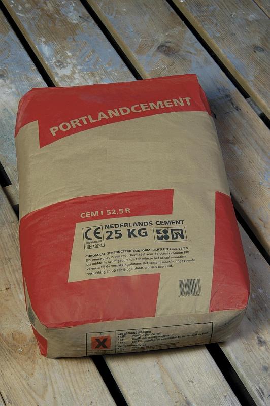 Portlandcement met code CEM I 52,5 R